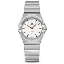 Omega Ladies Constellation Manhattan White Dial Bracelet Watch 131.10.28.60.02.001