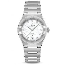 Omega Ladies Constellation Manhattan Diamond Set Mother Of Pearl Dial Bracelet Watch 131.10.29.20.55.001