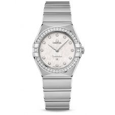 Omega Ladies Constellation Manhattan Diamond Set White Dial Bracelet Watch 131.15.28.60.52.001