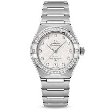 Omega Ladies Constellation Manhattan Diamond Set White Dial Bracelet Watch 131.15.29.20.52.001
