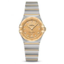 Omega Ladies Constellation Manhattan Champagne Diamond Set Dial Two-Tone Bracelet Watch 131.20.25.60.58.001
