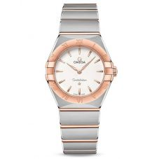 Omega Ladies Constellation Manhattan White Dial Two-Tone Bracelet Watch 131.20.28.60.02.001