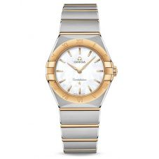 Omega Ladies Constellation Manhattan Mother Of Pearl Dial Two-Tone Bracelet Watch 131.20.28.60.05.002