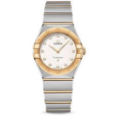 Omega Ladies Constellation Manhattan White Diamond Set Dial Two-Tone Bracelet Watch 131.20.28.60.52.002