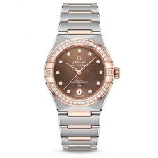 Omega Ladies Constellation Manhattan Diamond Set Brown Dial Two-Tone Bracelet Watch 131.25.29.20.63.001