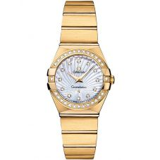 Omega Ladies Constellation Quartz 18ct Gold Diamond Supernova Bracelet Watch 123.55.24.60.55.003