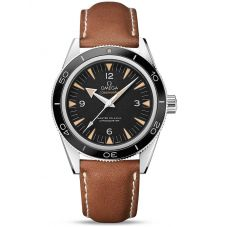 Omega Mens Seamaster 300 Leather Strap Watch 233.32.41.21.01.002
