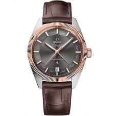 Omega Mens Constellation Globemaster Leather Strap Watch 130.23.41.22.06.001
