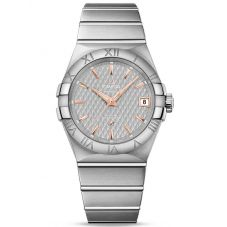 Omega Mens Constellation Quartz Bracelet Watch 123.10.38.21.06.002