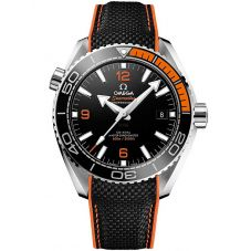 Omega Mens Seamaster Planet Ocean Orange Rubber Strap Watch 215.32.44.21.01.001