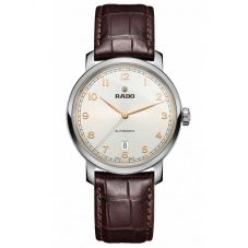 Rado Mens DiaMaster Automatic Brown Leather Strap Watch R14077136