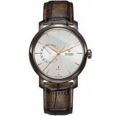 Rado Mens DiaMaster Automatic Power Reserve Brown Leather Strap Watch R14140026