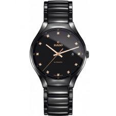 Rado Mens True Diamonds Automatic Black Ceramic Bracelet Watch R27056732