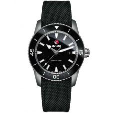 Rado Mens HyperChrome Captain Cook Automatic Black Fabric Strap Watch R32501156