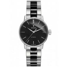 Rado Ladies Coupole Classic Automatic Black Ceramic and Steel Bracelet Watch R22862152 S