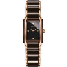 Rado Ladies Integral Diamonds Quartz Brown and Rose Ceramic Bracelet Watch R20201712