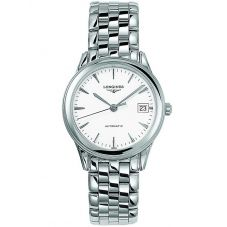 Longines Mens Flagship White Dial Bracelet Watch L47744126