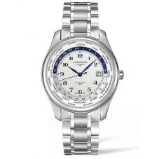 Longines Mens Master GMT White Dial Bracelet Watch L28024706