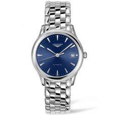Longines Mens Flagship Blue Dial Bracelet Watch L47744926