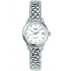 Longines Ladies Flagship White Dial Bracelet Watch L42744126