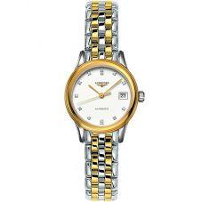 Longines Ladies Flagship Diamond Set White Dial Two Colour Bracelet Watch L42743277