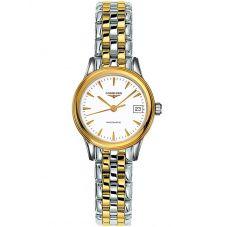Longines Ladies Flagship White Dial Two Colour Bracelet Watch L42743227