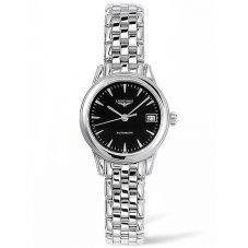 Longines Ladies Flagship Black Dial Bracelet Watch L42744526