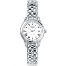 Longines Ladies Flagship White Dial Bracelet Watch L42744116