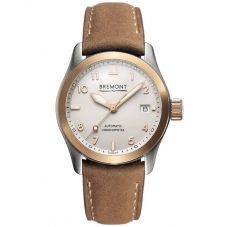 Bremont SOLO-37 18ct Rose Gold Bezel Strap Watch SOLO-37/RG