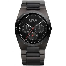Bering Mens Grey Ceramic Bracelet Watch 32341-792