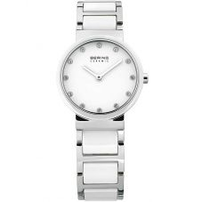 Bering Ladies White Ceramic Bracelet Watch 10729-754