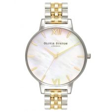 Olivia Burton Mother Of Pearl Two Colour Bracelet Watch OB16MOP05