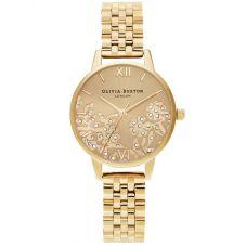 Olivia Burton Bejewelled Lace Gold Plated Bracelet Watch OB16MV105