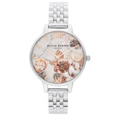Olivia Burton Marble Florals Demi Dial Bracelet Watch OB16CS31