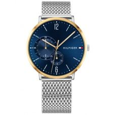 Tommy Hilfiger Brooklyn Blue Dial Two Tone Mesh Strap Watch 1791505