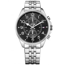 Tommy Hilfiger Dean Stainless Steel Black Dial Bracelet Watch 1791276