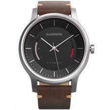Garmin Vivomove Premium Brown Strap Watch 010-01597-20