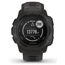 Garmin Instinct Graphite Black Rubber Strap Smartwatch 010-02064-00