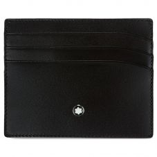 Montblanc Meisterstuck Black Leather 6cc Wallet 35803