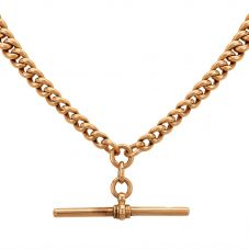 "Second Hand Yellow Gold 15"" Double Albert Chain (No Hallmark) 4103209"