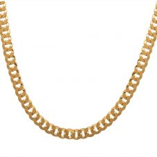 """Second Hand 9ct Gold 20"""" Flat Round Curb Chain 4103411"""