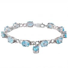 Second Hand Blue Topaz Set Bracelet 4107035