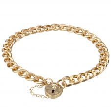 Second Hand 9ct Yellow Gold Curb Chain Bracelet 4107126