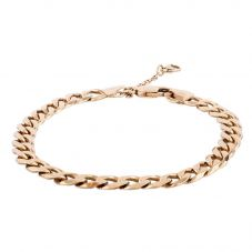 Second Hand 9ct Yellow Gold Mens Flat Curb Chain Bracelet 4107163