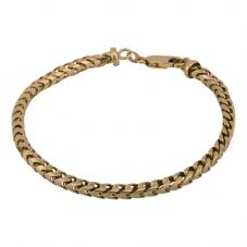 Second Hand 9ct Yellow Gold Cubed Link Bracelet 4107201