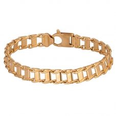 Second Hand 9ct Yellow Gold 8 Inch Fancy Bar Link Bracelet 4107219