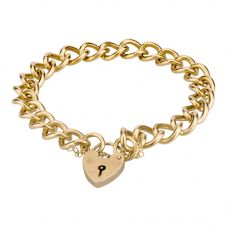 Second Hand 9ct Yellow Gold 7 Inch Curb Chain Bracelet 4107222