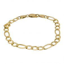 Second Hand 9ct Yellow Gold 8 Inch Figaro Chain Bracelet 4107225