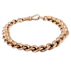 Second Hand 9ct Yellow Gold 7.5 Inch Roller Curb Chain Bracelet 4107247