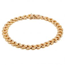 Second Hand 9ct Yellow Gold Fishtail Chain Bracelet  L511522(443)